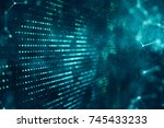 Abstract Digital Space Liquid...