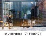 business people near a modern... | Shutterstock . vector #745486477