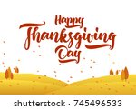 vector greeting card with hand... | Shutterstock .eps vector #745496533