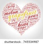 grapefruit. word cloud in shape ... | Shutterstock .eps vector #745534987