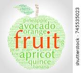fruit. word cloud in shape of... | Shutterstock .eps vector #745535023