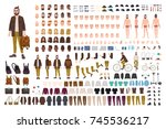 hipster creation kit. set of... | Shutterstock .eps vector #745536217