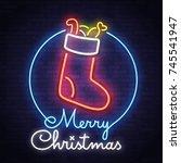 merry christmas. christmas... | Shutterstock .eps vector #745541947