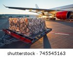 busy day at the airport.... | Shutterstock . vector #745545163