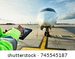 modern technology at the... | Shutterstock . vector #745545187