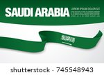 flag of saudi arabia  vector... | Shutterstock .eps vector #745548943