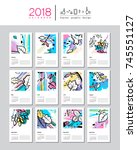 creative calendar template for... | Shutterstock .eps vector #745551127