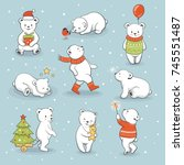 cute little polar bear set with ...