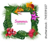 vector frame with place for... | Shutterstock .eps vector #745559107
