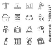 thin line icon set   lighthouse ... | Shutterstock .eps vector #745565167