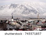 panorama view of reykjavik  the ...   Shutterstock . vector #745571857