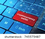 cryptocurrency concept ... | Shutterstock . vector #745575487