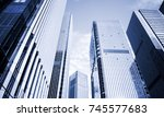 skyscrapers in commercial area  ... | Shutterstock . vector #745577683