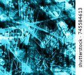 blue grunge template with...
