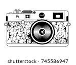 vintage photo camera | Shutterstock .eps vector #745586947