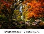 kamphaeng phet  khlong lan... | Shutterstock . vector #745587673