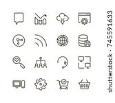social media icon set.... | Shutterstock .eps vector #745591633