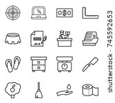 thin line icon set   target ... | Shutterstock .eps vector #745592653