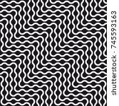 vector seamless pattern. modern ... | Shutterstock .eps vector #745593163