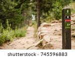 A Trail Marker On The Way Up T...
