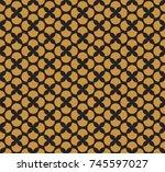 vintage floral art deco... | Shutterstock .eps vector #745597027