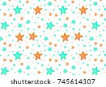 texture from painted watercolor ... | Shutterstock . vector #745614307