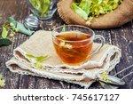 linden tea. selective focus.    Shutterstock . vector #745617127
