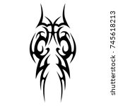 tattoo tribal vector design.... | Shutterstock .eps vector #745618213