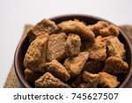 jaggery and sugar cane   by... | Shutterstock . vector #745627507