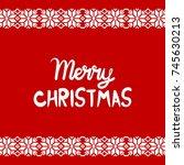 cartoon lettering illustration...   Shutterstock .eps vector #745630213