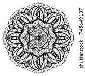 flower mandala. vintage... | Shutterstock .eps vector #745649137