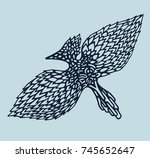 drawing by hand in abstract... | Shutterstock .eps vector #745652647