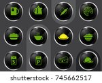 kitchen professional web icons... | Shutterstock .eps vector #745662517