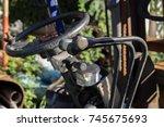 steering wheel and gear