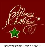 christmas  christmas ornament ... | Shutterstock .eps vector #745677643