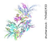 abstract composition. floral... | Shutterstock . vector #745681933