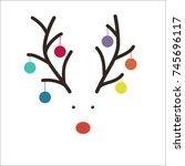 christmas card design   Shutterstock .eps vector #745696117