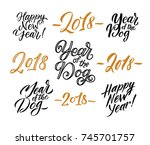merry christmas. happy new year ... | Shutterstock .eps vector #745701757