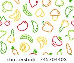 seamless background with... | Shutterstock .eps vector #745704403