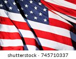 flag of the usa   american flag ... | Shutterstock . vector #745710337