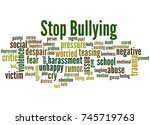 stop bullying  word cloud... | Shutterstock . vector #745719763
