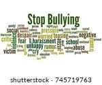 Stop Bullying  Word Cloud...