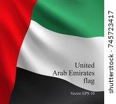 national united arab emirates... | Shutterstock .eps vector #745723417