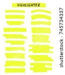 vector yellow highlighter brush ... | Shutterstock .eps vector #745734337