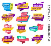 super sale banner. special... | Shutterstock .eps vector #745741573