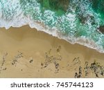 beautiful tropical coastline ... | Shutterstock . vector #745744123