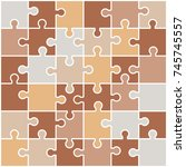 jigsaw colorful puzzle. nude... | Shutterstock .eps vector #745745557