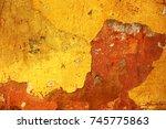 empty old art texture of... | Shutterstock . vector #745775863