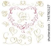 hand written vector... | Shutterstock .eps vector #745782127