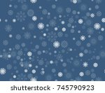 merry christmas and happy new... | Shutterstock .eps vector #745790923